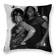 Jackie And James Party 66 Throw Pillow