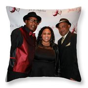 Jackie And James Party 73 Throw Pillow