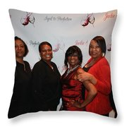 Jackie And James Party 90 Throw Pillow