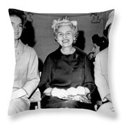 Jackie Kennedy At Luncheon Throw Pillow