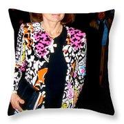 Jackie Kennedy Onassis 1990 Throw Pillow