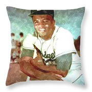 Jackie Robinson Throw Pillow
