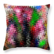 Jacks And Marbles Abstract Throw Pillow