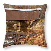 Jacks Creek Bridge Over Smith River Throw Pillow