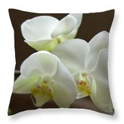 Jack's Orchids Throw Pillow