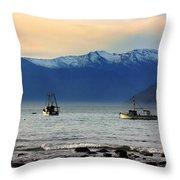 Jackson Bay South Westland New Zealand Throw Pillow