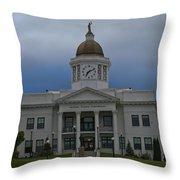 Jackson County Courthouse North Carolina Throw Pillow
