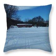 Jackson Covered Bridge II Throw Pillow