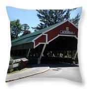 Jackson Covered Bridge Nh Throw Pillow