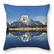 Jackson Lake Reflection Throw Pillow