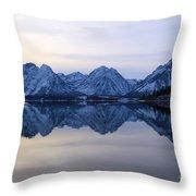 Jackson Lake Reflections Throw Pillow