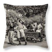 Jackson Square Jazz Sepia Throw Pillow