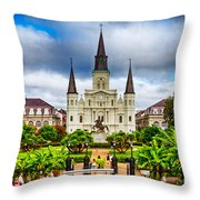 Jackson Square New Orleans Throw Pillow by Jarrod Erbe