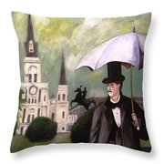 Jackson Square Throw Pillow by Rob Peters