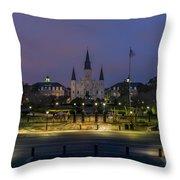 Jackson Square Sunrise Throw Pillow