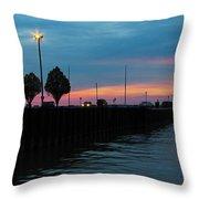 Jackson Street Pier - Sunset Throw Pillow
