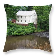 Jacksons Mill In The Rain Throw Pillow
