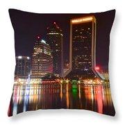 Jacksonville Aglow Throw Pillow