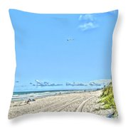 Jacksonville Fl Beach Throw Pillow