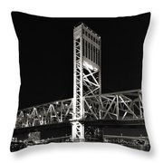 Jacksonville Florida Main Street Bridge Throw Pillow