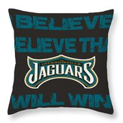 Jacksonville Jaguars I Believe Throw Pillow