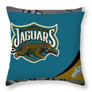 Jacksonville Jaguars Throw Pillow by Joe Hamilton