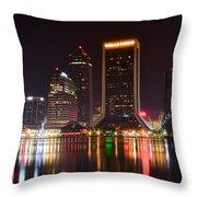 Jacksonville Night Throw Pillow
