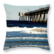 Jacksonville Pier Throw Pillow