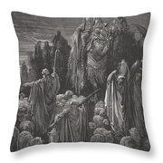 Jacob Goeth Into Egypt Throw Pillow