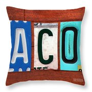 Jacob License Plate Name Sign Fun Kid Room Decor. Throw Pillow