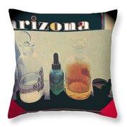 Jacobs Assay Office Front Window Tucson Arizona 1880-1969  Throw Pillow