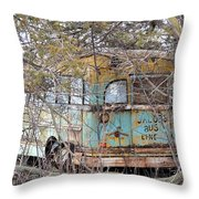Jacob's Bus Throw Pillow