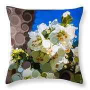 Jacobs Ladder Abstract Flower Painting Throw Pillow