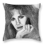 Jacqueline Bisset In 1983 Throw Pillow by J McCombie