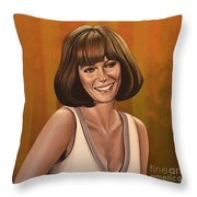 Jacqueline Bisset Painting Throw Pillow