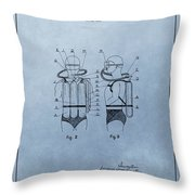 Jacques Cousteau Diving Suit Patent Throw Pillow