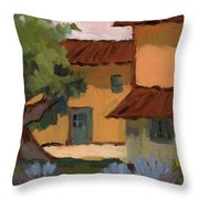 Jacques Farm In Provence Throw Pillow