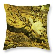 Jade Orchid Throw Pillow