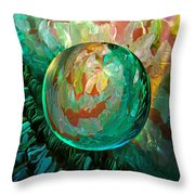 Jaded Jewels Throw Pillow by Robin Moline
