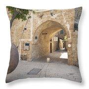 Jafo In Tel Aviv Israel Throw Pillow
