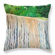 Jagala Waterfalls  Throw Pillow