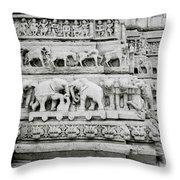 Jagdish Temple Sculpture Throw Pillow