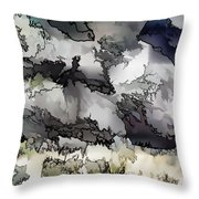 Jagged And Flowing Throw Pillow