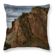 Jagged Peaks At Smith Rock Throw Pillow
