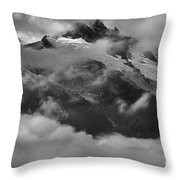 Jagged Peaks Glaciers And Storms Throw Pillow