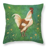 Jagger The Rooster Throw Pillow
