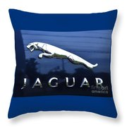 A Gift For Dads And Jaguar Fans Throw Pillow