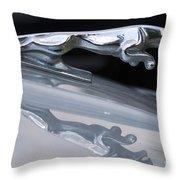 Jaguar Car Hood Ornament Reflection Throw Pillow