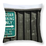 Jaguar Car Park Throw Pillow by Joana Kruse