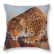 Jaguar Throw Pillow by David Stribbling